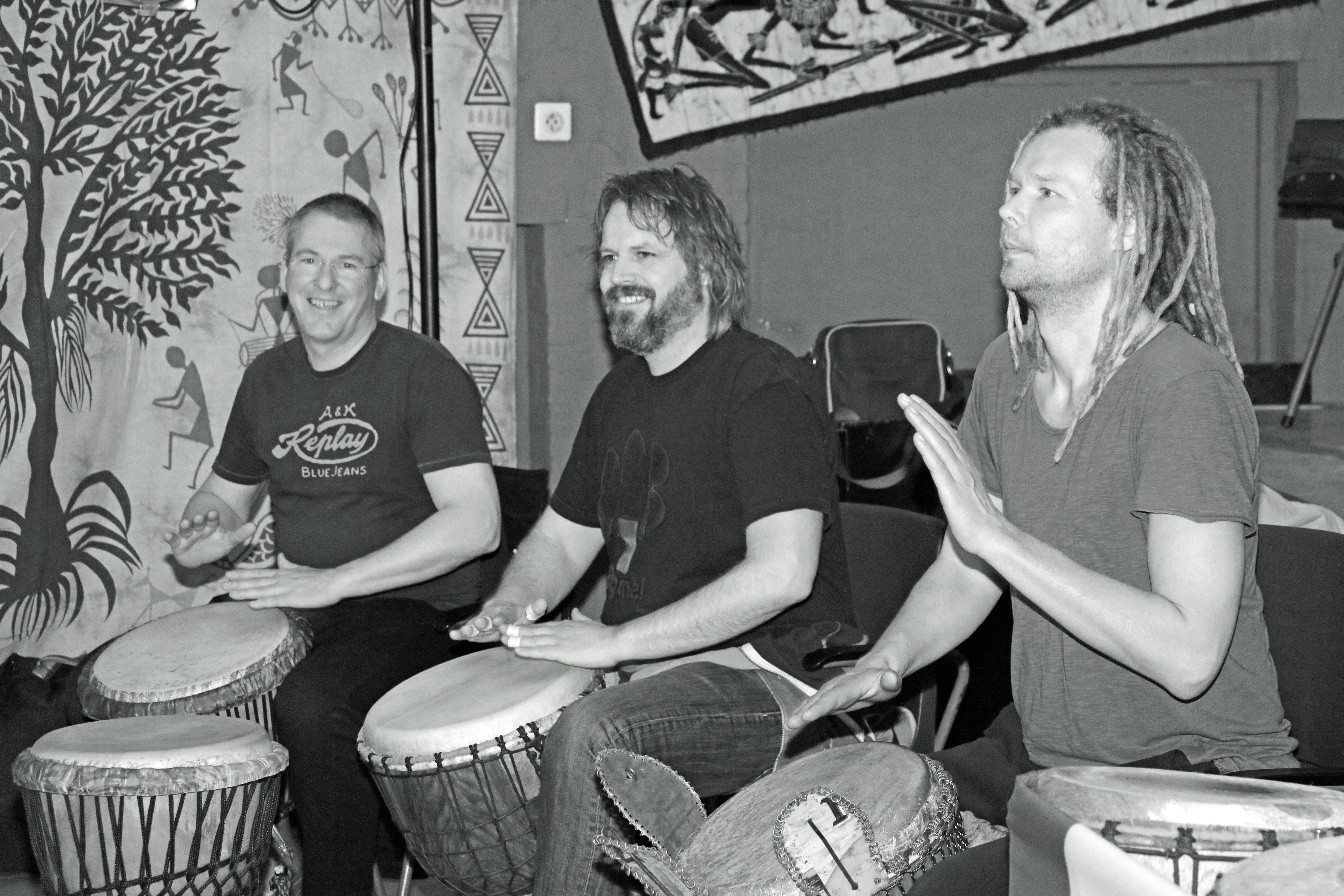 Daniel Verbaan with Michiel Moerkerk and Jeroen Huguenin at Tuka Tuka