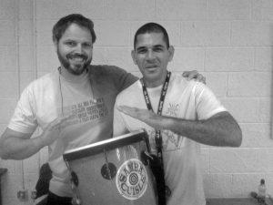 Daniel Verbaan with Mestre Jorge Martin